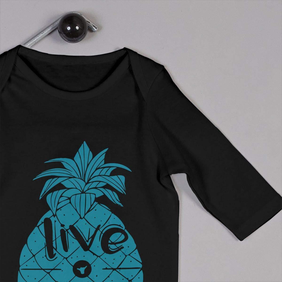 Baby Boy Girl Bodysuits Live Aloha Pineapple Kid Pajamas