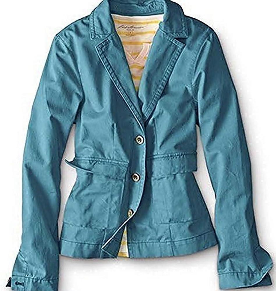 Chaqueta de Verano Mujer de Eddie Bauer - algodón, Azul, 100% algodón 100% algodón. \n\t\t\t\t, mujer, XS: Amazon.es: Ropa y accesorios