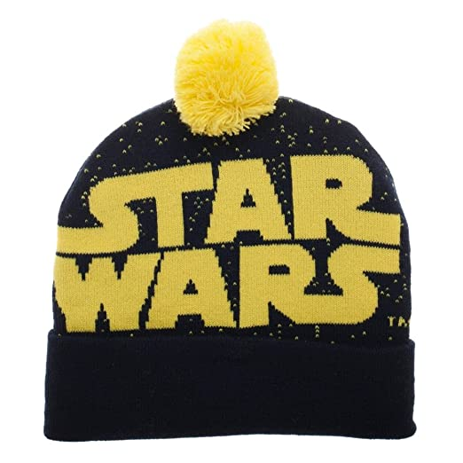 92abe7ae293 Image Unavailable. Image not available for. Color  Star Wars Jaquard Logo Knit  Beanie Hat ...