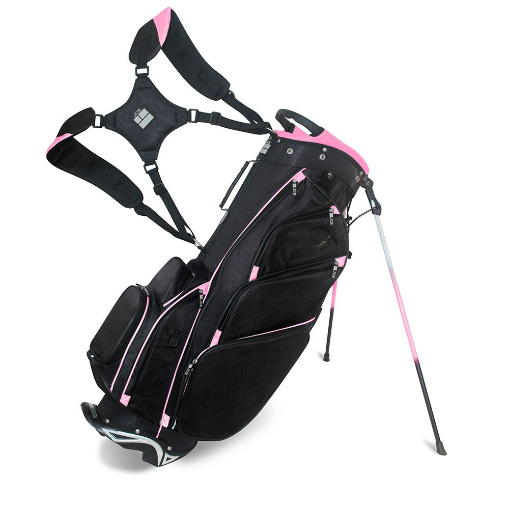 JCR Golf 550016 DL550 Women's Golf Stand, Bag Black/Pink by JCR Golf