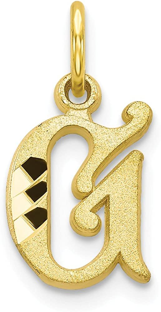 10K Yellow Gold Charm Pendant Themed Initial G