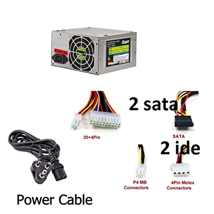Amazon.in: Buy Foxin Computer SMPS 500W Switch Mode Power Supply, 2 ...
