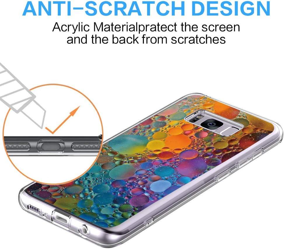 Riyeri H/ülle Compatible with Samsung Galaxy S8 Plus H/ülle Klar Slim TPU Silikon Bumper Handytasche f/ür Samsung S8 Sch/öne Nachtansicht S8, 5