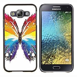LECELL--Funda protectora / Cubierta / Piel For Samsung Galaxy E5 E500 -- Mariposa Colores --