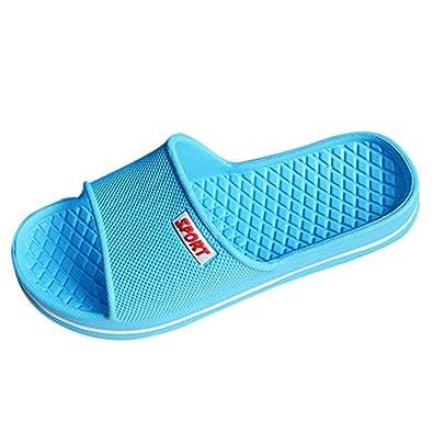 YUHUAWYH Zapatillas de Baño Unisex Zapatillas de Piso de Interior Sandalia de Verano Antideslizante (39, verde)