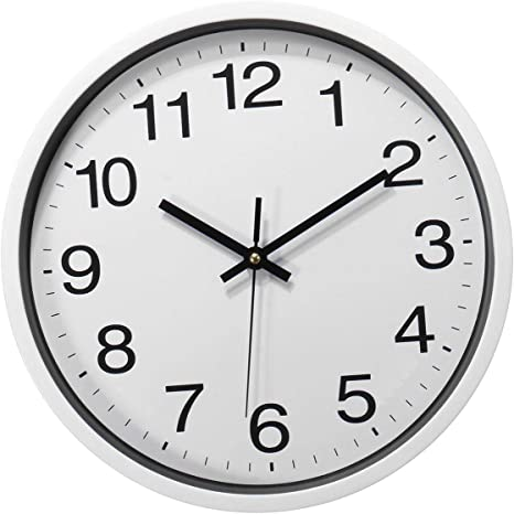 Fashion 12inch Silent Wall Clock Non-Ticking Decorative Clock Home Office