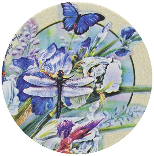 Thirstystone Drink Coaster Set, Dragonfly and Iris I ()
