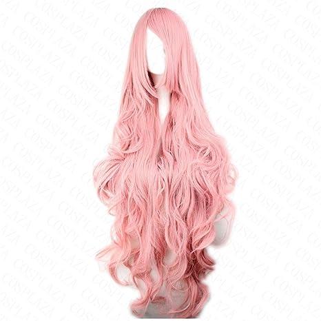 Cosplaza - Peluca de pelo sintético para cosplay del anime Vocaloid Hatsune Miku Megurine