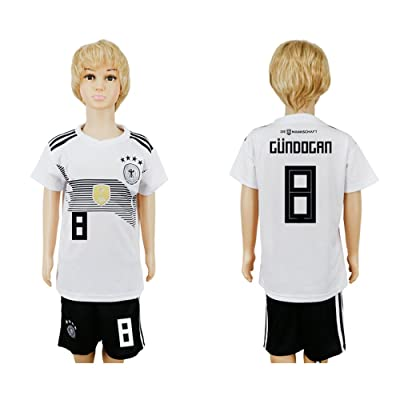 YJL 2018 World Cup Germany National Team #8 Soccer Jersey Kids/Youths Size