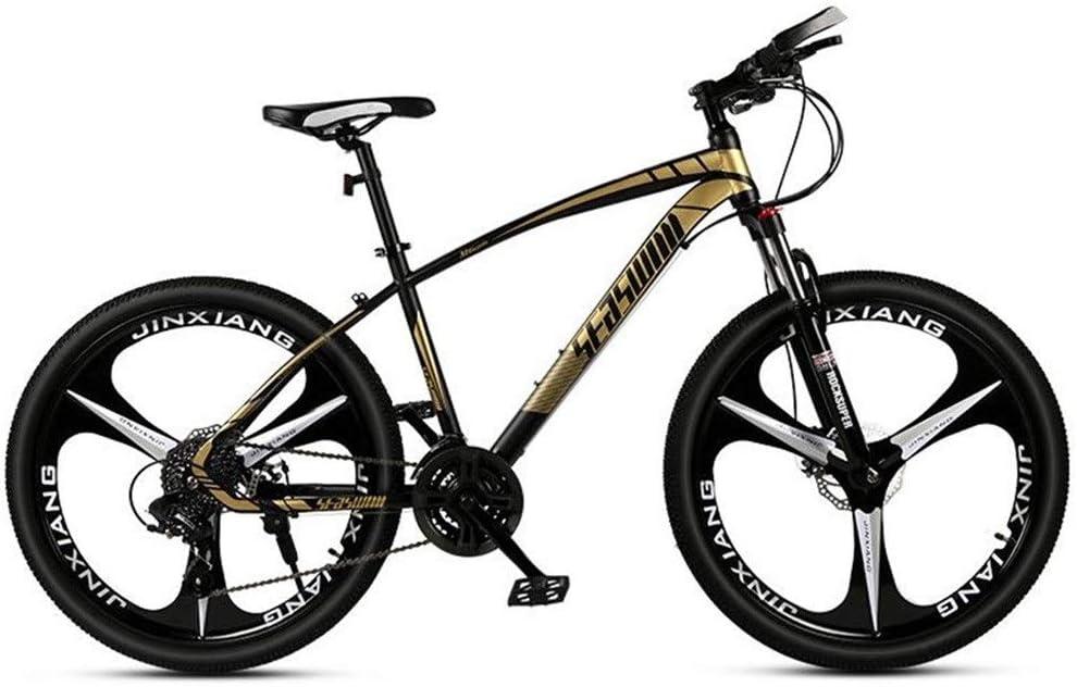 Bicicleta Montaña Bicicleta De Montaña, Bicicletas De Montaña Unisex Suspensión Delantera, Suspensión Dual Del Disco Del Freno Delantero, Chasis De Acero Al Carbono, 26 Pulgadas De La Rueda Del Mag: Amazon.es: Deportes