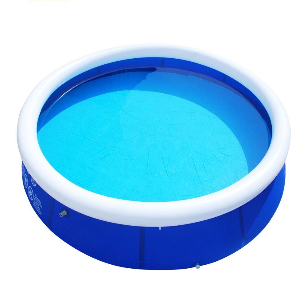 + インフレータブルバスタブアダルト折りたたみ浴槽子供バットバレル(ブルー、300cm * 76cm) # B07KMS1H3D