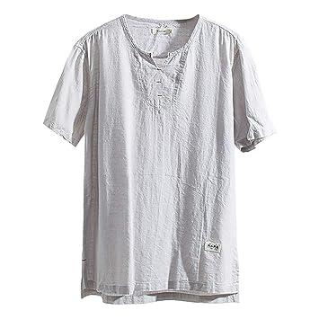 Karinao - Camiseta de verano para hombre, hippie, algodón ...