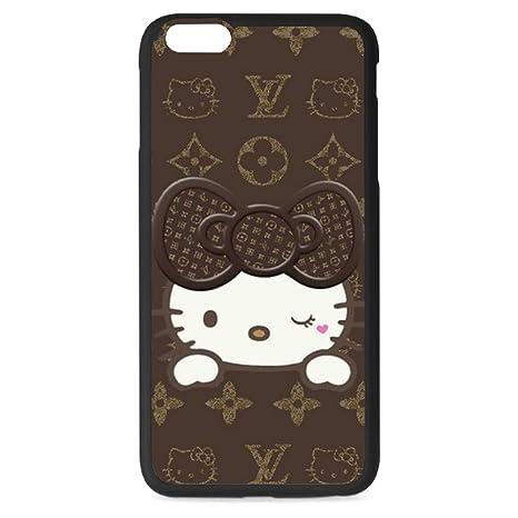 d35feaa5d1d WRITINGCOVER Cute Cartoon Star Hello Kitty patrón Funda para teléfono móvil  para iPhone 6 Plus/