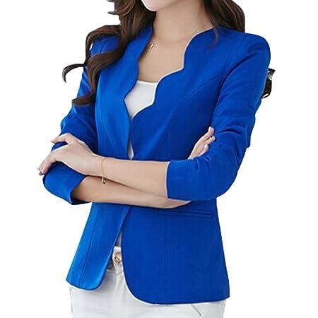 Amazon.com: Womens Basic Cut Short Tailor Jacket Casual ...