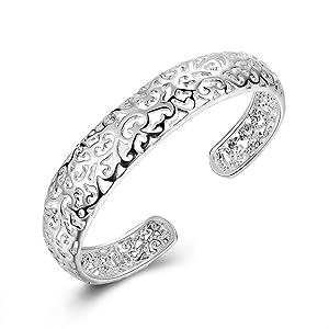 Sapphire Silver Plated Bracelets For Women
