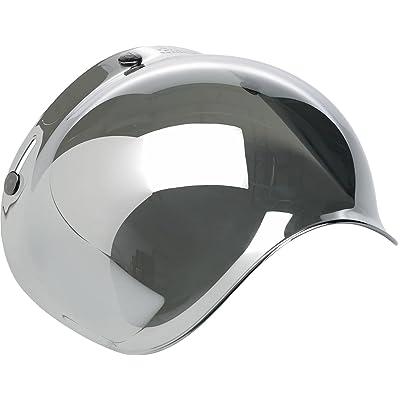 Biltwell Smoke Tint Bubble Shield (Chrome Mirror, One Size): Automotive