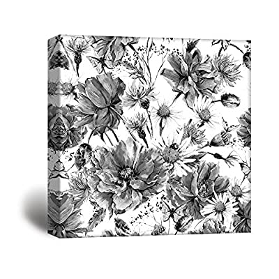 Fascinating Technique, Made With Top Quality, Square Flowers Petals in Black White