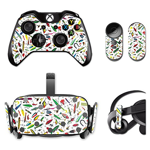MightySkins Skin for Oculus Rift CV1 – Bright Lures | Protective, Durable, and Unique Vinyl Decal wrap Cover | Easy to Apply, Remove, and Change Styles | Made in The USA