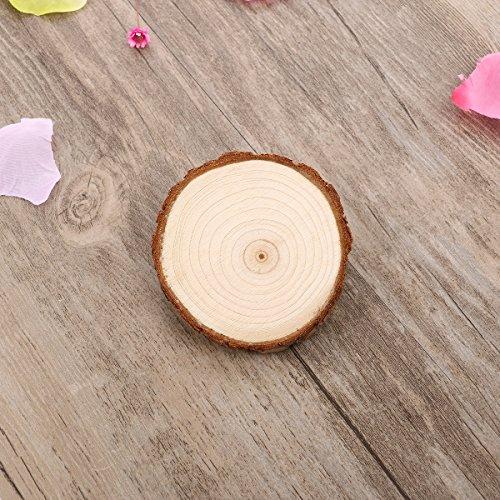 Nuolux wood slices disc log for diy crafts
