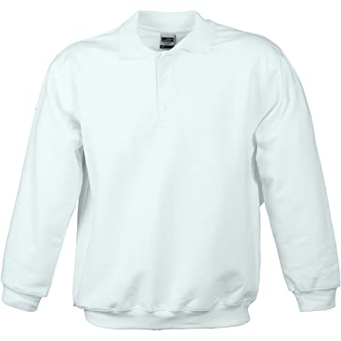 Sweat-Shirt Col Polo - Homme - Jn041 - Blanc Bwazl5F