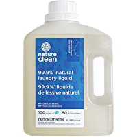 Nature Clean Laundry Liquid Detergent, Fragrance Free, Hypoallergenic, Dermatologist Tested, Sensitive Skin Tested 3L…