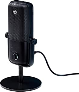 Elgato Wave:3 – USB Condenser Microphone and Digital Mixer for Streaming, Recording, Podcasting - Clipguard, Capacitive Mute, Plug & Play for PC / Mac