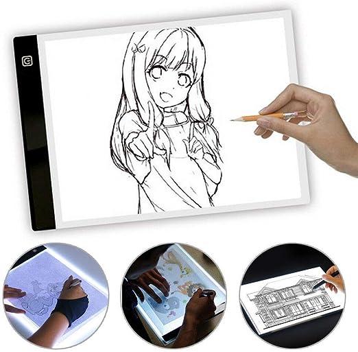 MorNon Portalámparas A4 Tablero de Dibujo LED Tablero de Dibujo ...