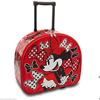 Amazon.com | Disney Store Red Minnie Mouse Rolling Luggage/Carry ...