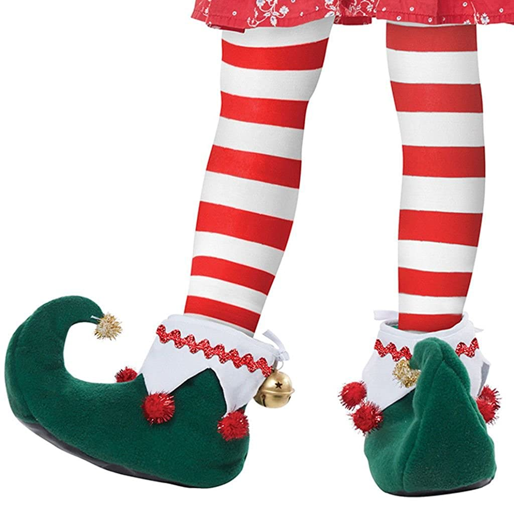 Elf Shoes Adult Men's & Women's Christmas Santa's Helper Slippers SM MD LG California Costumes CCC-60729