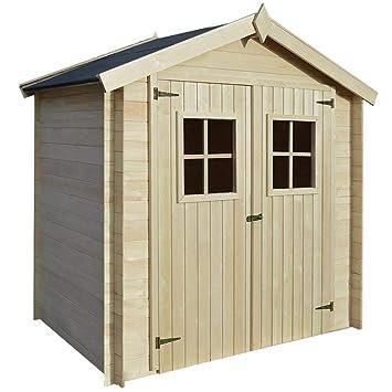 Caseta de Jardín Tipo Cobertizo/Caseta de Exterior/Abrigo de jardín + Almacenamiento, 2x1.5x2m, Grosor de la pared19 mm: Amazon.es: Hogar