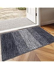 Vaukki Indoor Doormat Entryway Door Rug, Non Slip Absorbent Mud Trapper Mats, Low-Profile Inside Floor Mats, Soft Machine Washable Small Rugs Door Carpet for Entryway