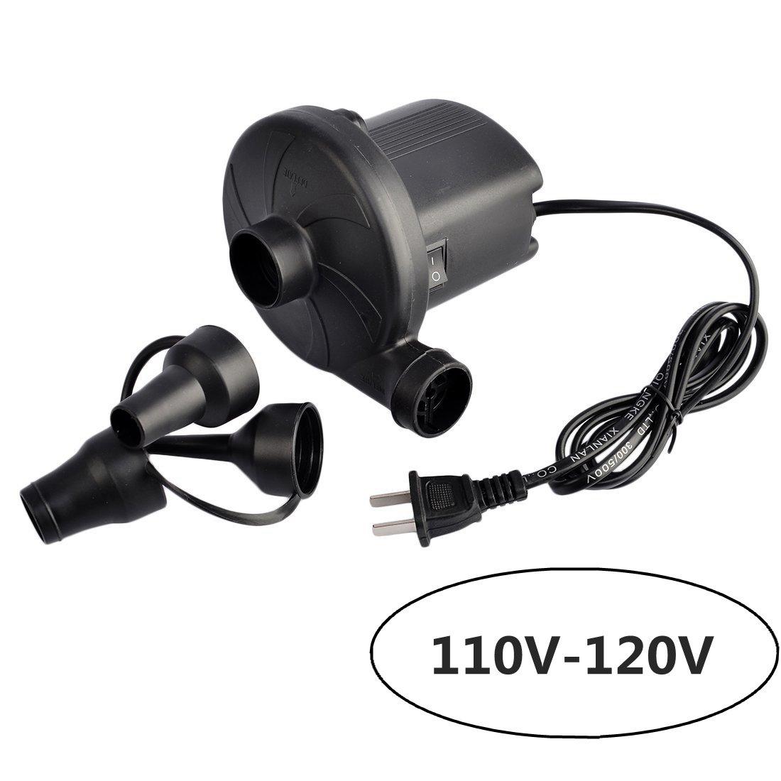 Air Pumps, Petforu Quick-fill 110V-120V AC Electric Pump for Inflatable Bed /Pools /Mattress /Infant Swimming Ring