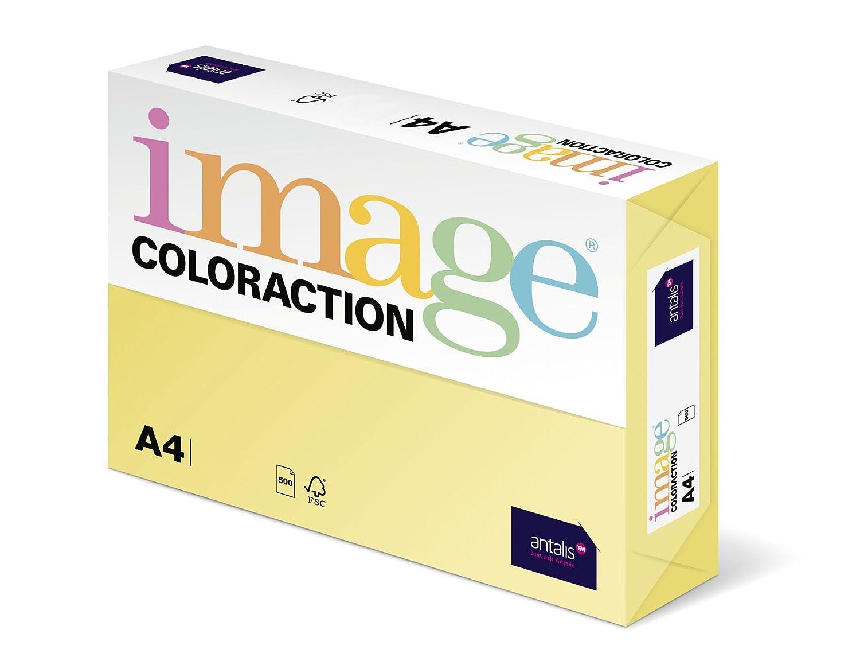 Coloraction 838A 120S 4 Antalis DIN A4, 120 gr/mq- Carta per fotocopie, colore: Giallo deserto 89369