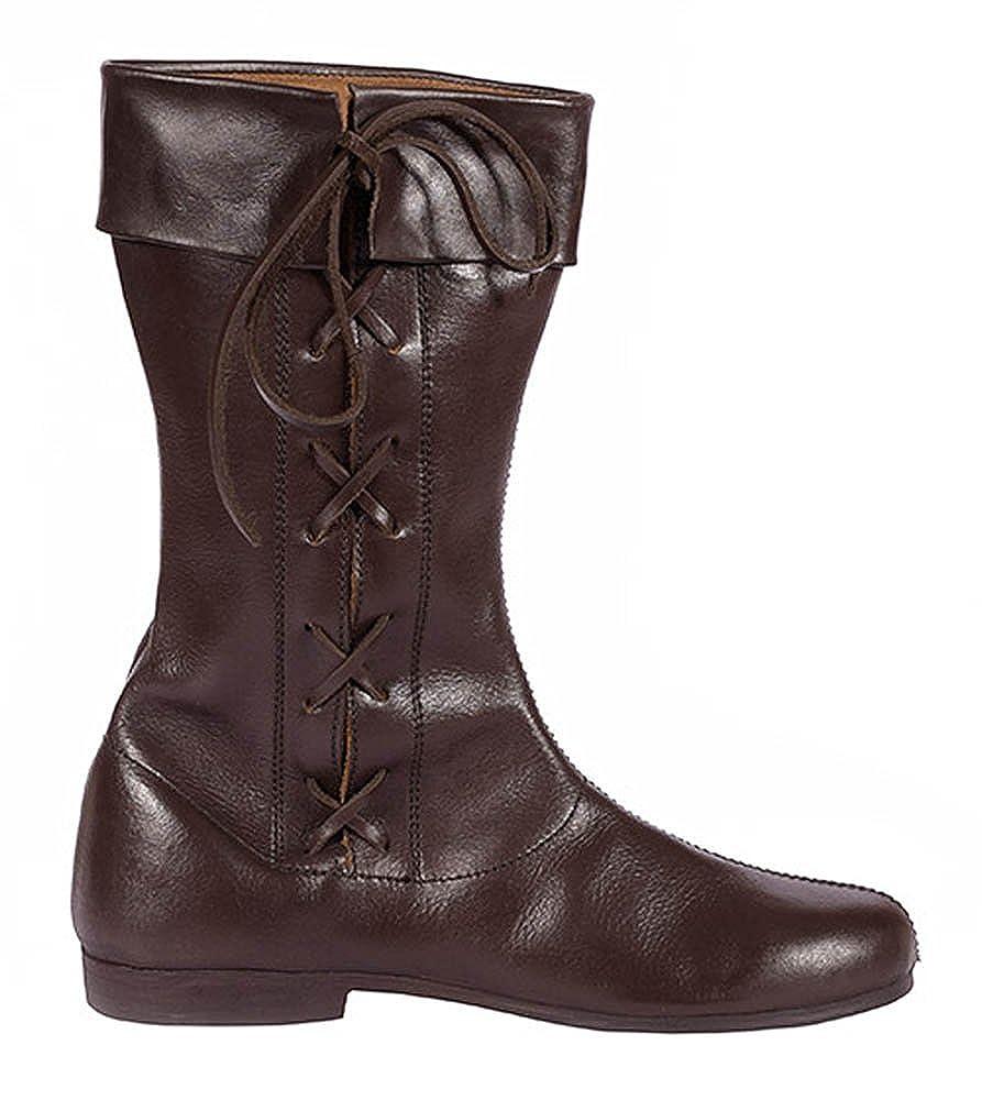 Lange Schnürstiefel, dunkelbraun aus Leder - Mittelalterstiefel Schuhe  Mittelalter LARP Schuhgröße 44  Amazon.de  Schuhe   Handtaschen 561a1dbe09