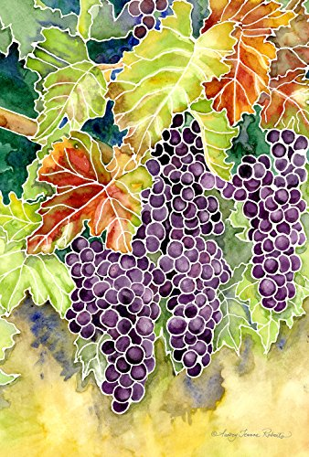 (Toland Home Garden Vineyard Grapes 28 x 40 Inch Decorative Colorful Grape Vine Winery Fruit House Flag)