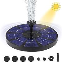 Bomba de Fuente Solar para Baño de Pájaros con Batería de Respaldo de 1200 Mah 3W Kit de Fuentes de Estanque Solar para Estanques