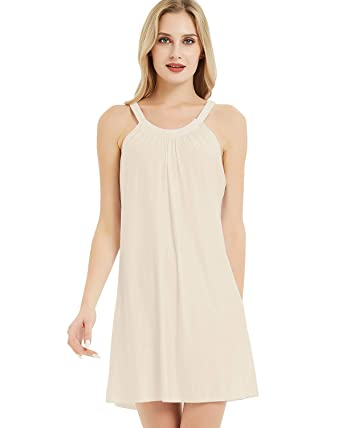 9d561dbbdc1 LAPAYA Women's Beach Cover Up Plain Sleeveless Stretcy Tunic Summer Casual  Dress, Apricot1, Small