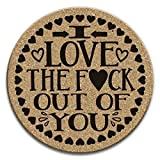 I Love The F*ck Out Of You - Cute Romantic Drink Coaster Gift Set of 4 Cork Anniversary