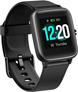 BUDAOLIU Updated Version Smart Watch for Android and iOS Phone,Fitness Tracker with Heart Rate Monitor Pedometer Sleep Tracker,Waterproof Smartwatch Compatible with iPhone Samsung