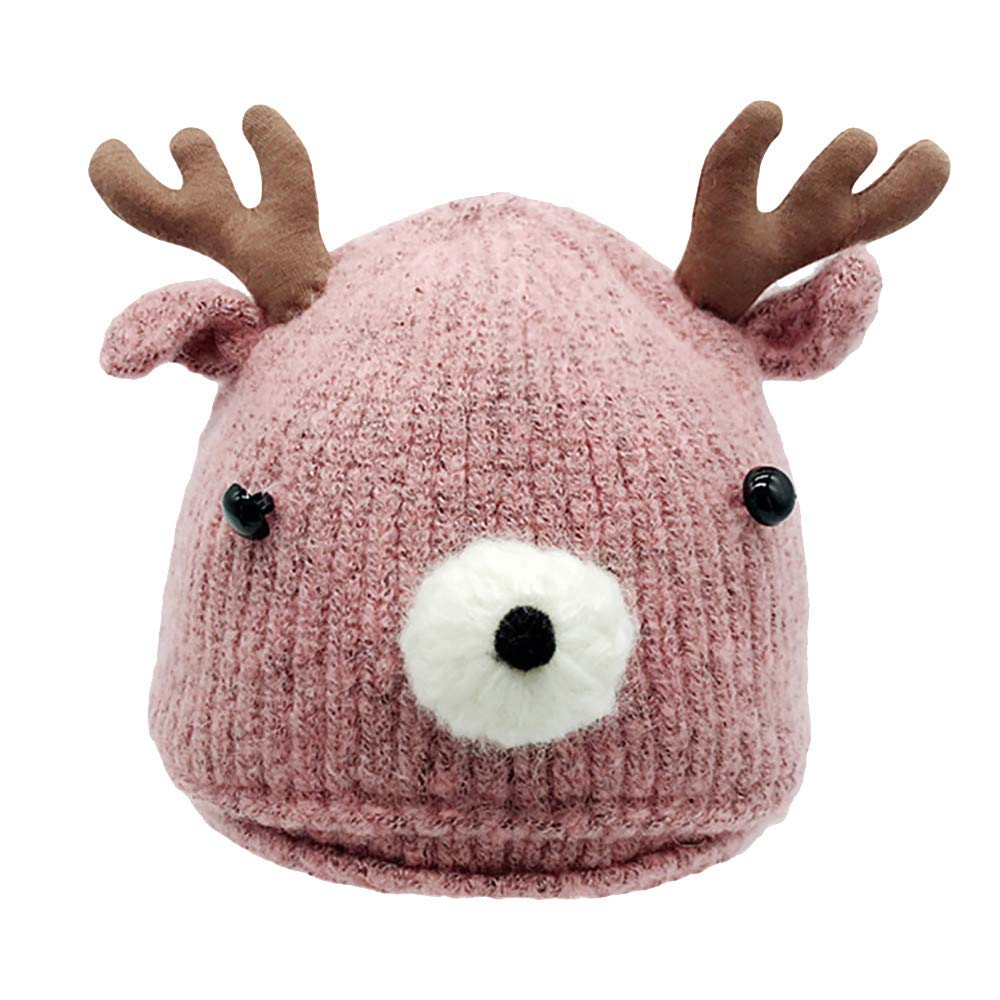 Anxinke Infants Christmas Cartoon Knitted Warm Beanie for 6-18 Months