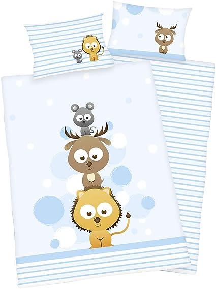 40 x 60 cm 3 pi/èces Parure de lit pour enfant 100/% coton 1 drap-housse 70 x 140 cm 100 x 135 cm