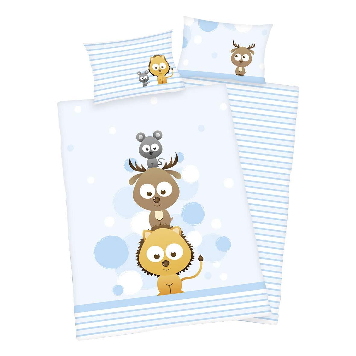 PatiChou 100/% Cotone Lenzuola per culle e lettini bambino 70x140 cm Panda e amici Confezione da 2