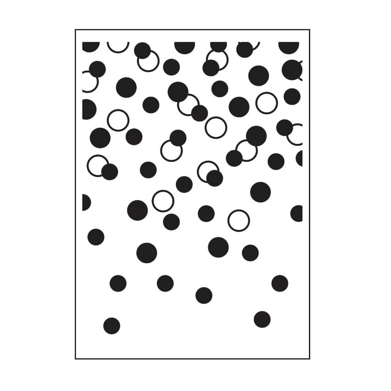 Darice Gradating Confetti Dots Embossing Folder