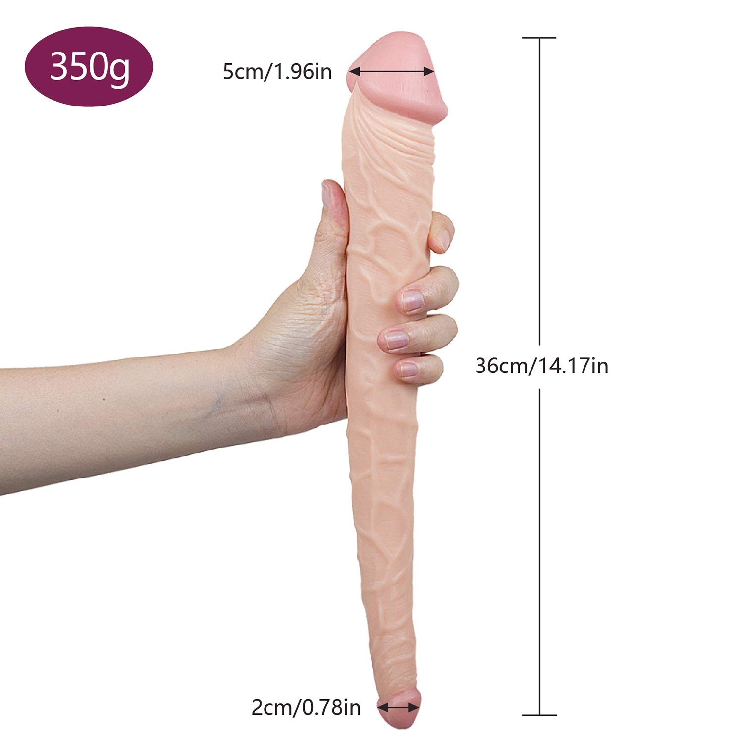 TTFAYQ Realistic Double Dong,Double Ended Dǐldo Adult Toy for Lesbǐan TTFAYQ