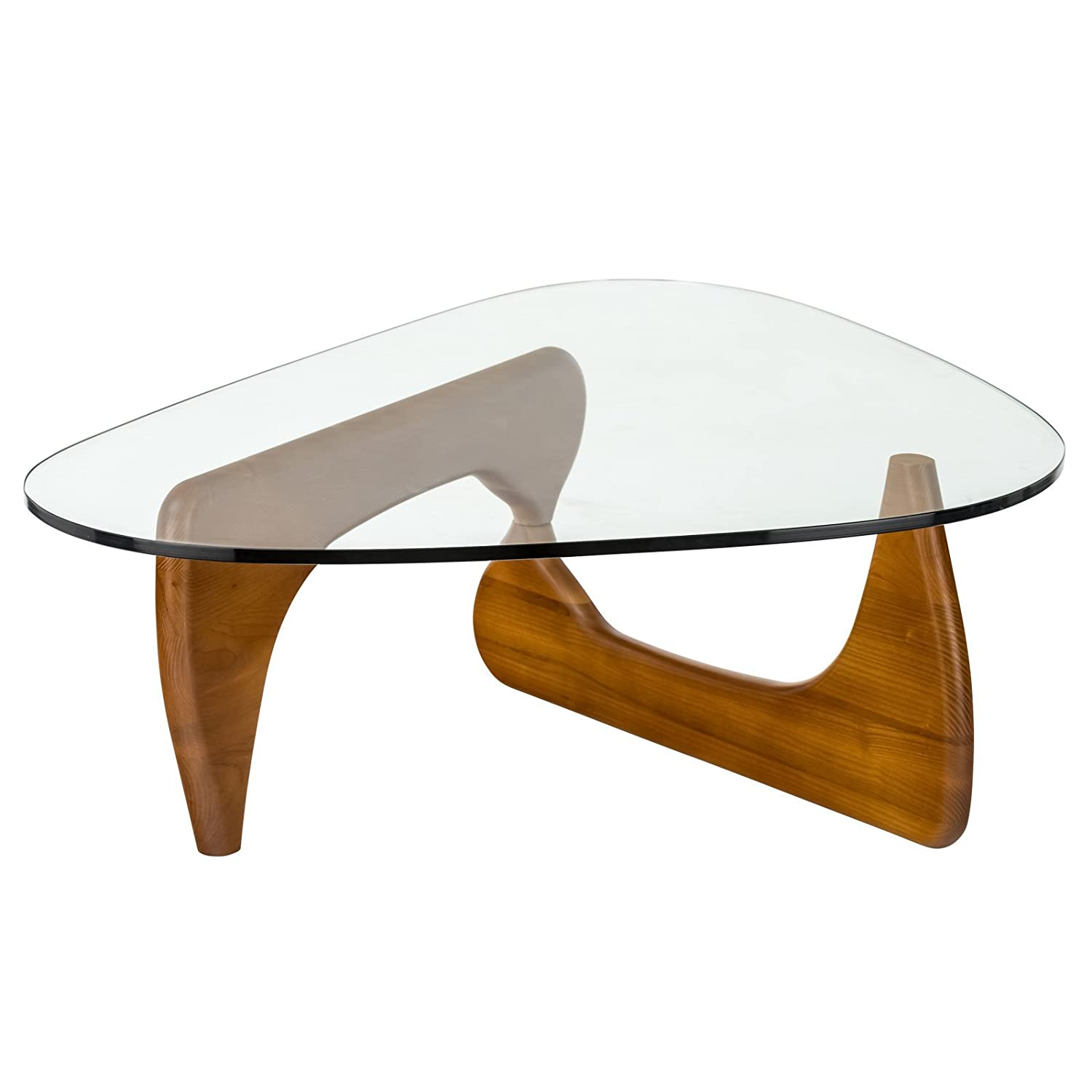 Amazon Poly and Bark Noguchi Style Triangular Coffee Table in