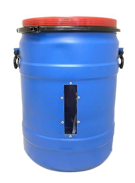 Amazon com: Blue High Density Polyethylene Open Head, 30 Gallon