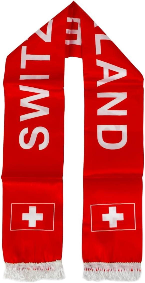 Sonia Originelli Schal Langschal L/änderschal WM EM Fu/ßball Fan Polyester Party