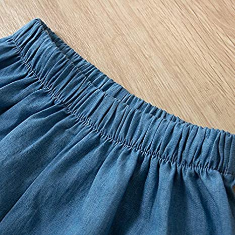 Two Piece Clothes Set Denim Lace Vest +Shorts Childern Baby Clothing 2019 Zolimx Girls Summer Outfits for Age 2//3//4//5//6//7 Years olds