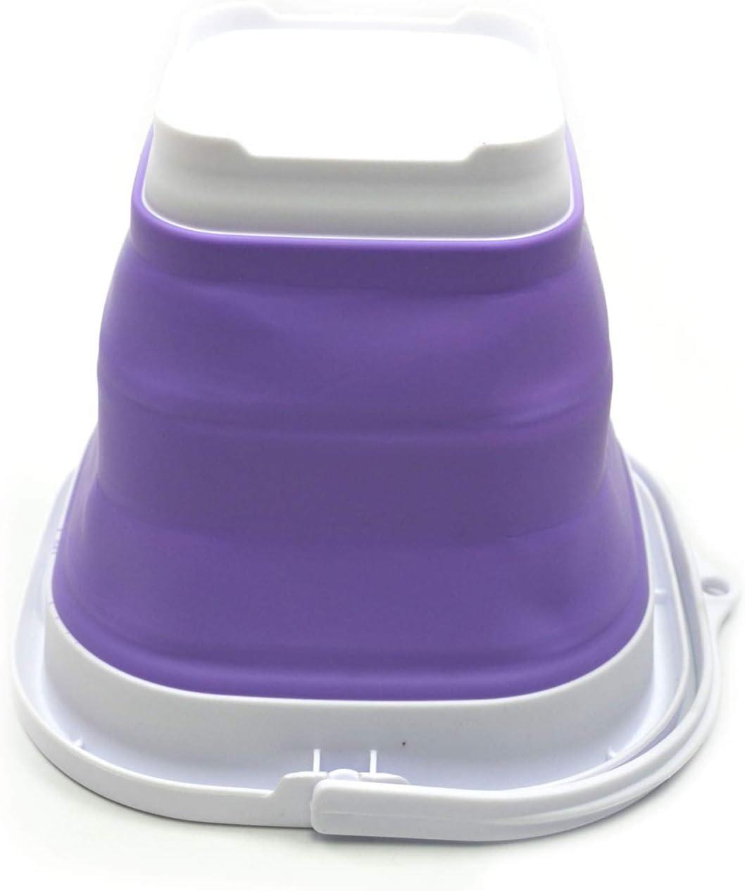 SAMMART Super Mini Seau Plastique Carr/é Pliable Seau dEau de P/êche Portable Baignoire Carr/ée Pliable Pot dEau Ext/érieure Gain dEspace Gris