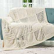 Crochet Afghan Block Club - 30-Block Stitch Sampler Afghan Subscription Club: Natural Pearl Colorway